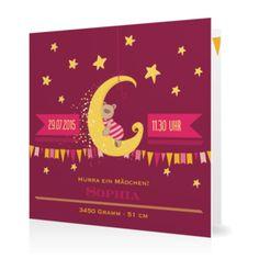 Mädchen Geburtskarte Traumland ✔ in wenigen Schritten individuell gestalten ✔ edler Druck und hochwertiges Material » Jetzt konfigurieren www.goldbek.de