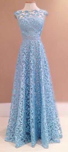 6d1da750da1 Lace Prom Dresses Blue Prom Dress Modest Prom Gown A Line Prom Gown Evening  Dress Evening · Krajkové ŠatyPlesové ...