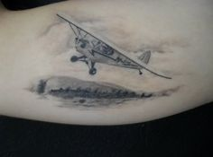 Memorial tattoo idea... I love this my pawpaw built flying model air planes and flew them every sunday that I can ever remember. This is an awesome tattoo