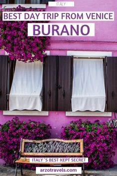 Burano must be one of the most beautiful places in Italy - find out about the best things to do in Burano, Italy. What to do and where to go (and how to get from Venice to Burano as a day trip). Things To Do In Italy, Places In Italy, European Destination, European Travel, Positano, Amalfi, Day Trips From Venice, Italy Travel Tips, Travel Destinations