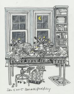 Color Me Cluttered - with a number 2 pencil and a touch of moonlight.