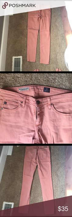 AG super skinny ankle-length jeans Salmon colored, size 27 AG Adriano Goldschmied Jeans Skinny
