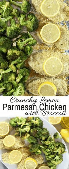 Crunchy Lemon Parmesan Chicken with Broccoli