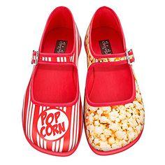 b02adea094a8 Hot Chocolate Design Chocolaticas Popcorn Women s Mary Jane Flat  Multicoloured US Size  10 -Great Movie Ride anyone