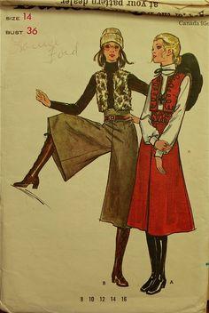 1970s gauchos & boots
