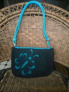 """Женские сумки ручной работы. Ярмарка Мастеров - ручная работа. Купить сумка из войлока """"Софи"""". Handmade. Черный, войлок, сумка"""