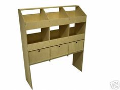 Plywood Racking - 6 Pigeon Hole & 3 Drawers - 300mm