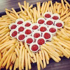 grafika food, fries, and ketchup
