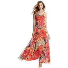 GUESS by Marciano Hot House Hibiscus Maxi Dress
