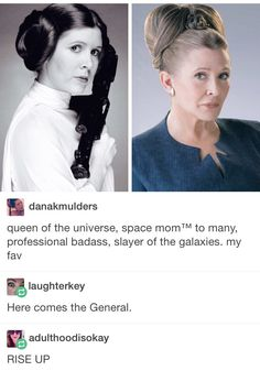 I don't know if I'm repinning for the awesome Star Wars Leia thing, or the Hamilton comments afterwards, probably both