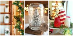 ~ These festive ideas will fulfill all your Christmas decorating needs....37 Magical Ways to Use Mason Jars This Christmas