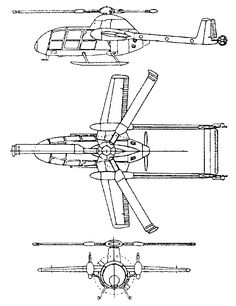 McDonnell XV-1 orthographic projection