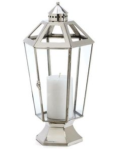 15 Magical Lanterns: Luxembourg hurricane lamp by Williams-Sonoma Home.