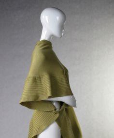 Light Olive Green Merino Wrap stole wrap capelet poncho feminine warm women green olive grass spring mustard wedding 65.00 USD #goriani