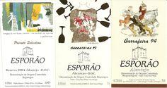 Etiquetas vinos HEREDADE DO ESPORAO.Portugal. etiquetasvinoarte.blogspot.com