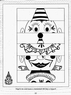 Albumarchívum Clown Crafts, Circus Crafts, Carnival Crafts, Carnival Themes, Diy Crafts To Sell, Diy Crafts For Kids, Kindergarten Activities, Activities For Kids, Shot Book