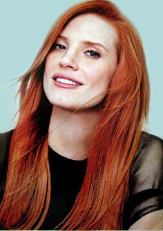 mooi rood is niet lelijk ♥ Red hair - Jessica Chastain Jessica Chastain, Actress Jessica, Red Hair Color, Color Red, Beautiful Redhead, Ginger Hair, Ginger Makeup, Flawless Skin, Flawless Makeup
