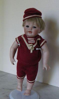 "Big All Bisque 11.5"" Boy Doll"