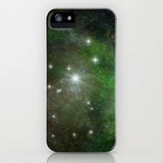 new at @Society6 : #Green #Space #iPhone & #iPod #Case - galaxy #stars