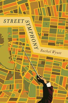 "Street Symphony by Rachel Wyatt.  A collection showcasing the trademark piercing insight and sardonic humour of one of Canada's true masters of the short story.  A woman carries a placard bearing the question ""Are you content to be nothing?"" as she conducts her way through the interconnected stories of this thought-provoking collection."