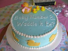 Ideas For Baby Reveal Cake Babyshower Cowboy Baby Shower, Baby Shower Duck, Rubber Ducky Baby Shower, Baby Shower Cakes, Baby Reveal Cakes, Baby Gender Reveal Party, Gender Party, Christmas Baby Announcement, Baby Announcement Cards