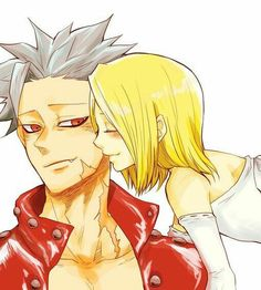 Ban and Elaine Me Me Me Anime, I Love Anime, Anime Guys, Otaku Anime, Manga Anime, Seven Deadly Sins Anime, 7 Deadly Sins, Ban E Elaine, My Little Pony