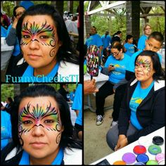 Family Reunion face painting by FunnyCheeksTJ, Dallas Face Painter