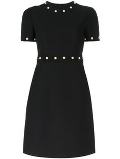 GUCCI bead embellished fitted dress. #gucci #cloth #dress