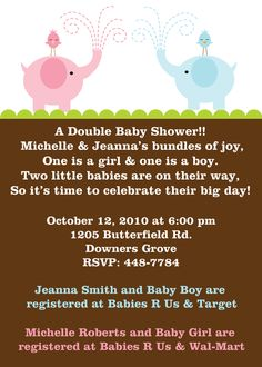 baby shower wording