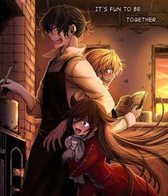 Alice,Gilbert Nightray,Oz Vessalius(Oz the B-Rabbit) - Pandora Hearts,Anime