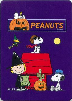 Peanuts Great Pumpkin Playing Cards by andertoons, via Flickr