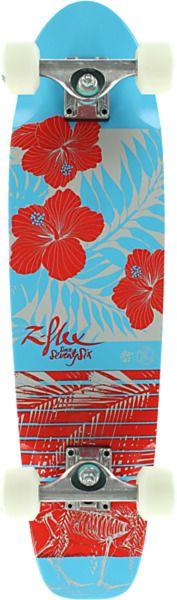 "Z-Flex Skateboards Bikini Hot Mess Complete Cruiser Skateboard - 7.5"" x 29.5"""