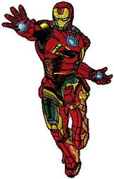 Large Iron Man iron on or sew on patch Iron by EmbroideryPatchLove