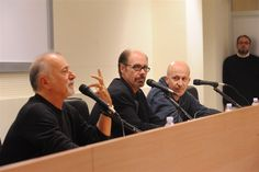 Jeffery Deaver and Giorgio Faletti at the book launch of SARÒ LA TUA OMBRA (XO) - Asti, 15th November 2012