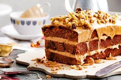 Recipe for coffee walnut cake - Cake recipes Coffee And Walnut Cake, Coffee Cake, Coffee 21, Sweet Coffee, Baking Recipes, Cake Recipes, Dessert Recipes, Pasta Recipes, Food Cakes
