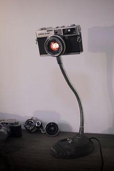 handmade camera lamp