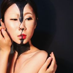 the video of 'kissing myself.' #painting, #makeup, #modeling, #photograph…