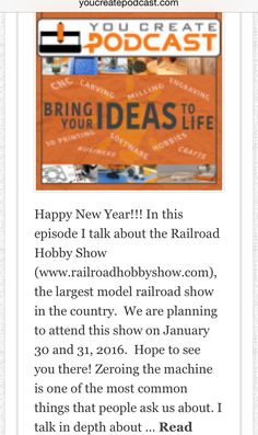 You Create Podcast #010 | Happy New Year | Model Railroading Show | How To Zero Your Job youcreatepodcast.com