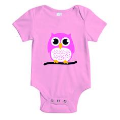 Baby rompertje - roze - uil