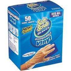 Soft Scrub Vinyl Disposable Gloves