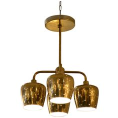 Paavo Tynel for Lightolier Brass Ceiling Pendant: A wonderful petite ceiling fixture in brass, in the manner of Paavo Tynell. The fixture is small in scale and would be best suited for vestibule/ entry hall. Ceiling Pendant, Ceiling Fixtures, Pendant Lighting, Chandelier, Ceiling Lights, Vestibule, Entry Hall, City Art, Mid Century