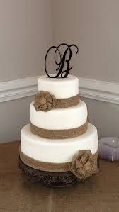 burlap wedding cake - Google Search