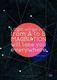 Imagination will take you everywhere...love Einstein!