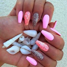 pink, glitter, silver, white