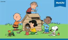The Peanuts gang has the Habitat for Humanity idea down pat! Vintage Cartoon, Cute Cartoon, Die Peanuts, Peanuts Snoopy, Schulz Peanuts, Charlie Brown Quotes, Charlie Brown And Snoopy, Snoopy Love, Snoopy And Woodstock