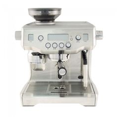 Breville Oracle Espresso Machine BES980XL $1999 (includes grinder).  The other staff pick at Seattle Coffee Gear //// Hybrid between semi & super