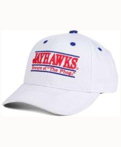 Game Time Kansas Jayhawks Classic Game 3 Bar Cap - White/Blue Adjustable