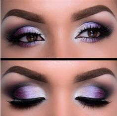 Silver Purple eyeshadow ideas