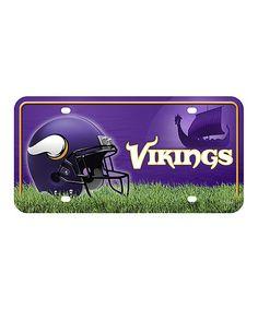 Minnesota Vikings Primary Logo Auto Plate