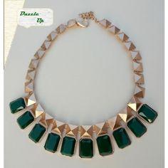 Classy Emerald Stone Necklace